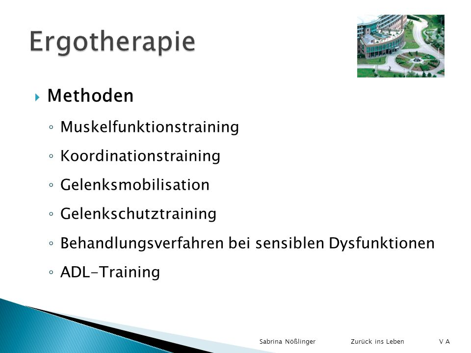 Ergotherapie Methoden Muskelfunktionstraining Koordinationstraining