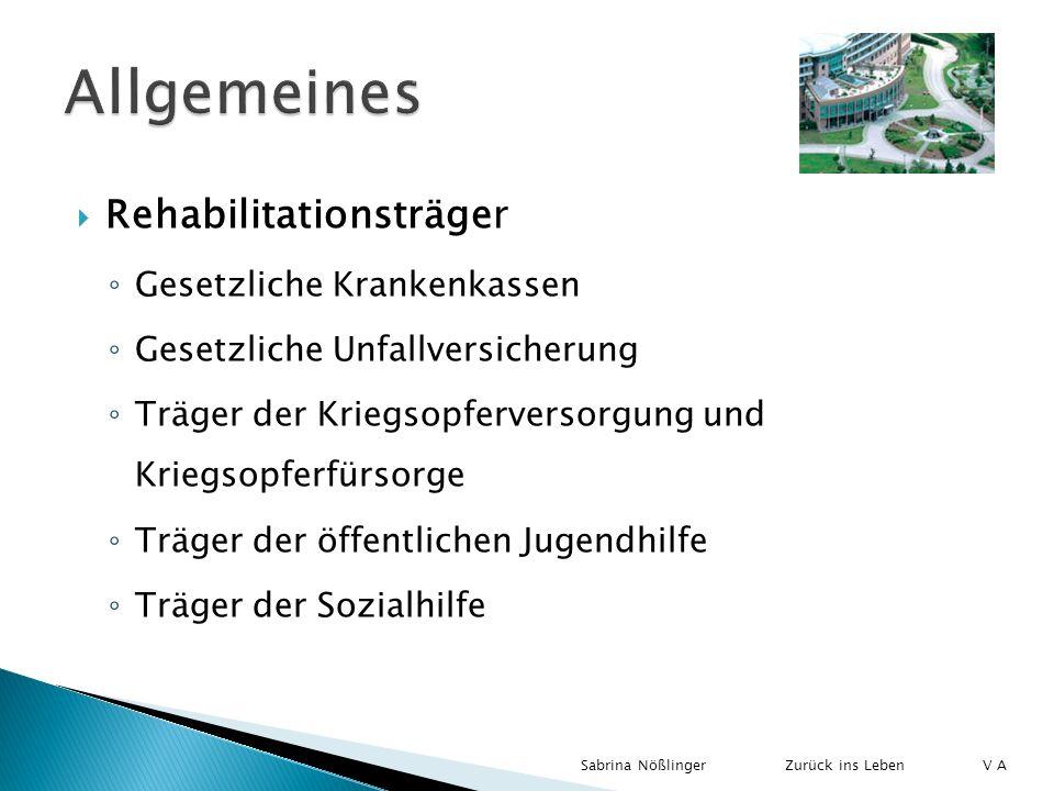 Allgemeines Rehabilitationsträger Gesetzliche Krankenkassen