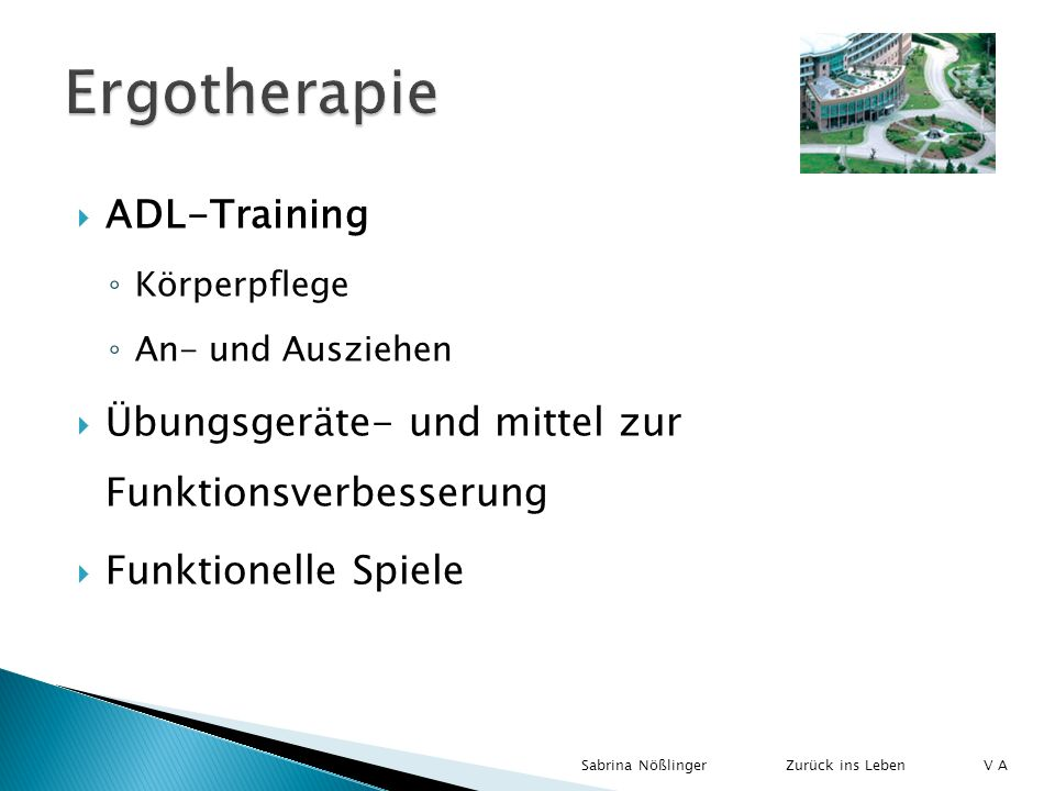 Ergotherapie ADL-Training