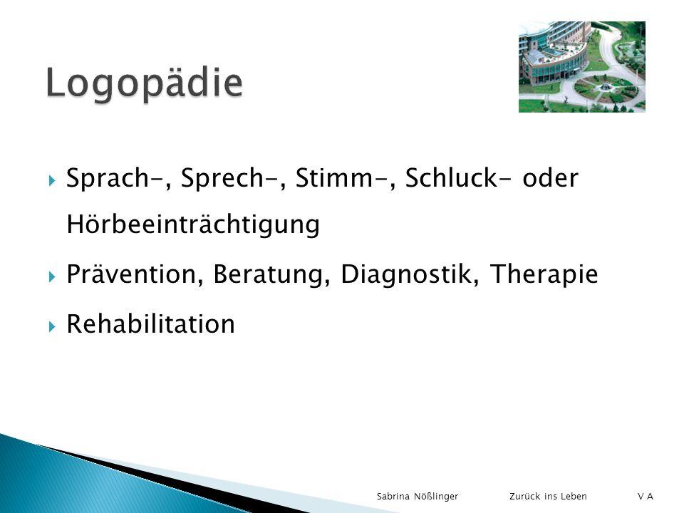 Logopädie Sprach-, Sprech-, Stimm-, Schluck- oder Hörbeeinträchtigung