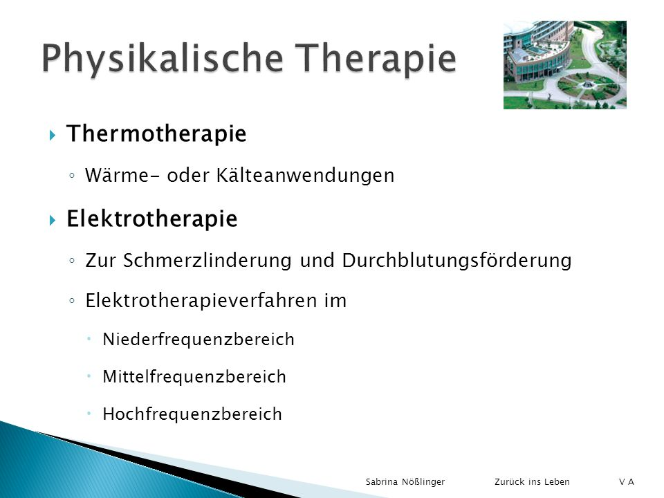 Physikalische Therapie