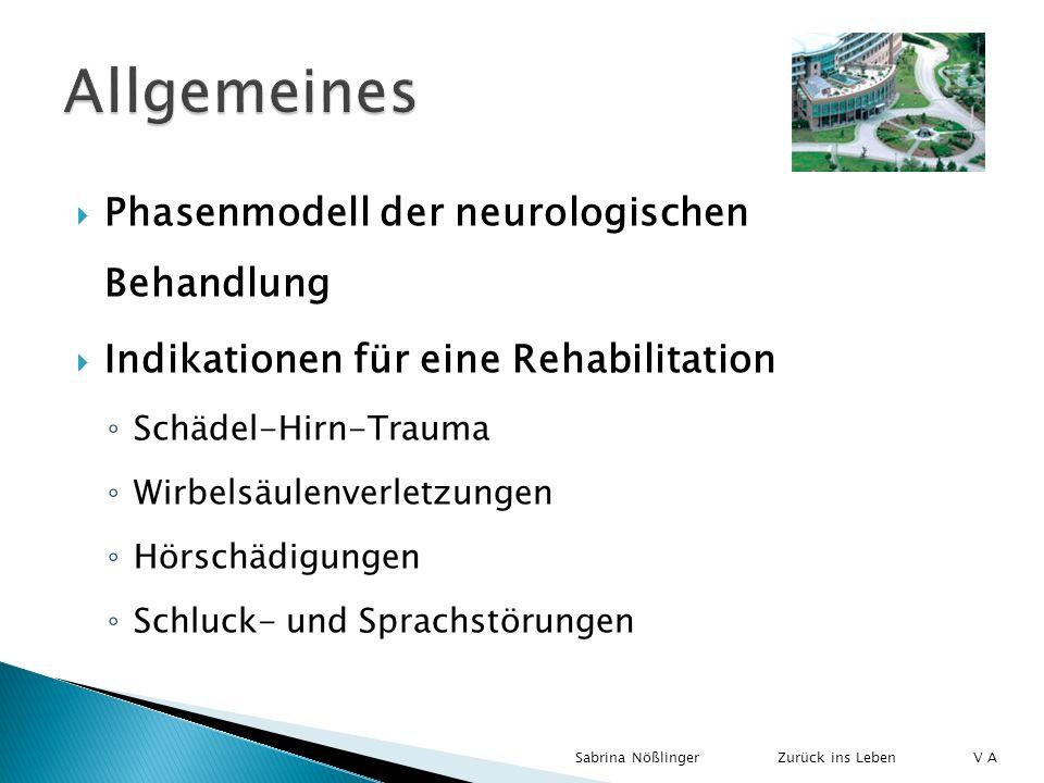 Allgemeines Phasenmodell der neurologischen Behandlung