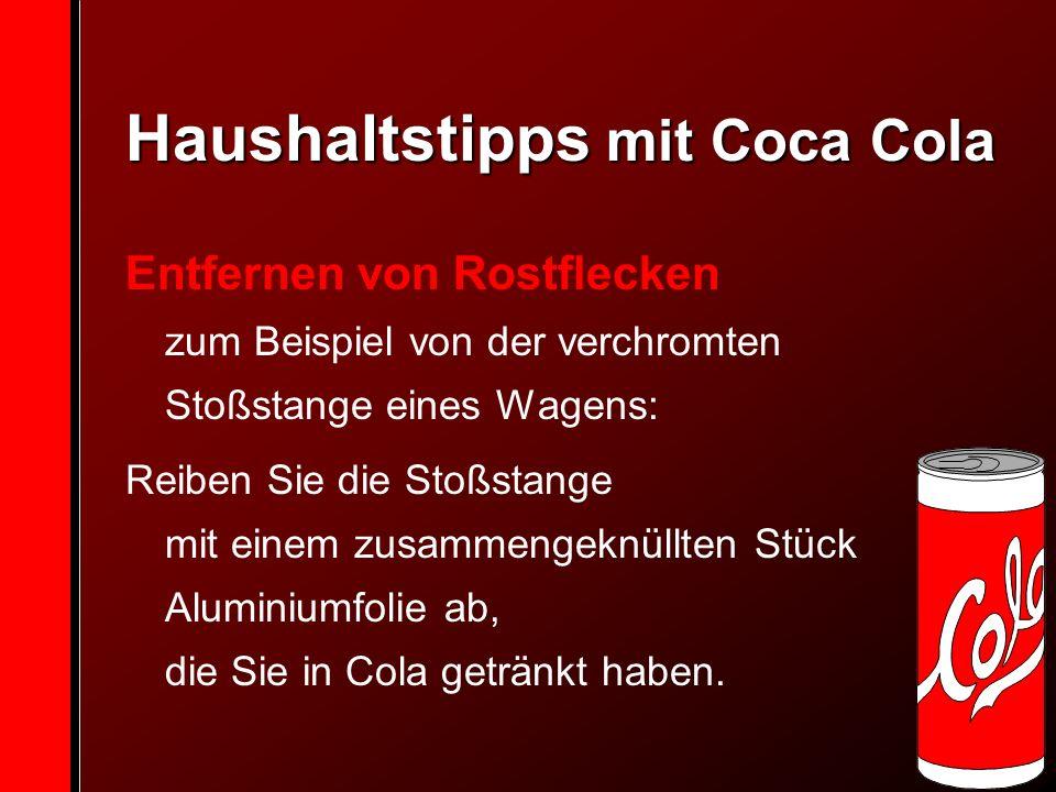 Haushaltstipps mit Coca Cola