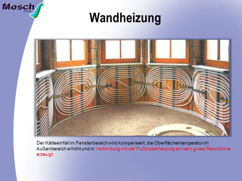 Wandheizung Der Kälteeinfall im Fensterbereich wird kompensiert, die Oberflächentemperatur im.