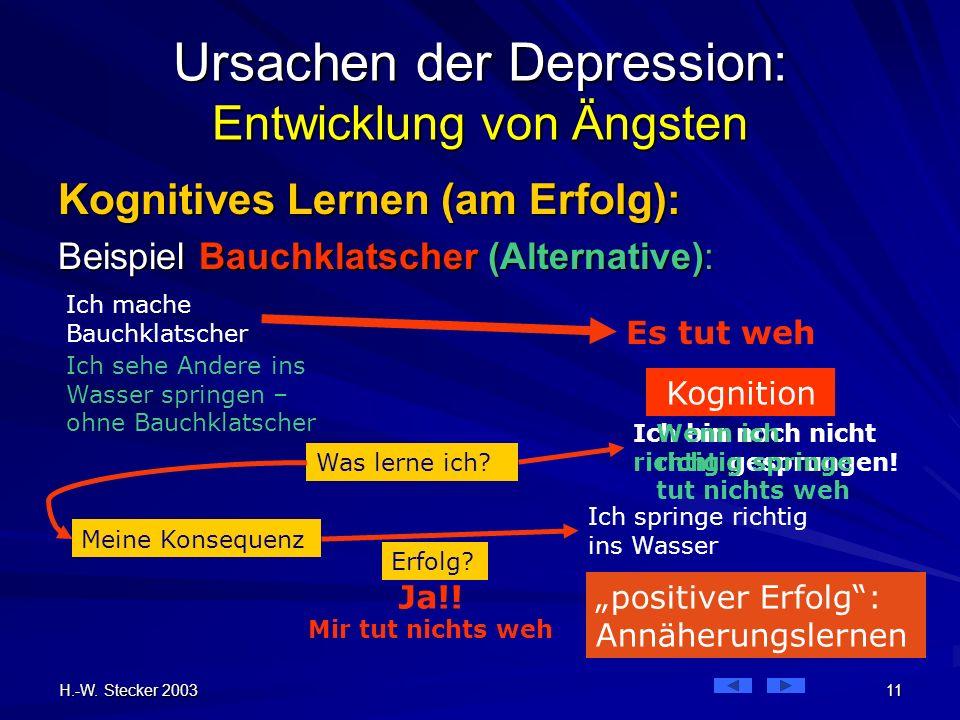 Ursachen der Depression: Entwicklung von Ängsten
