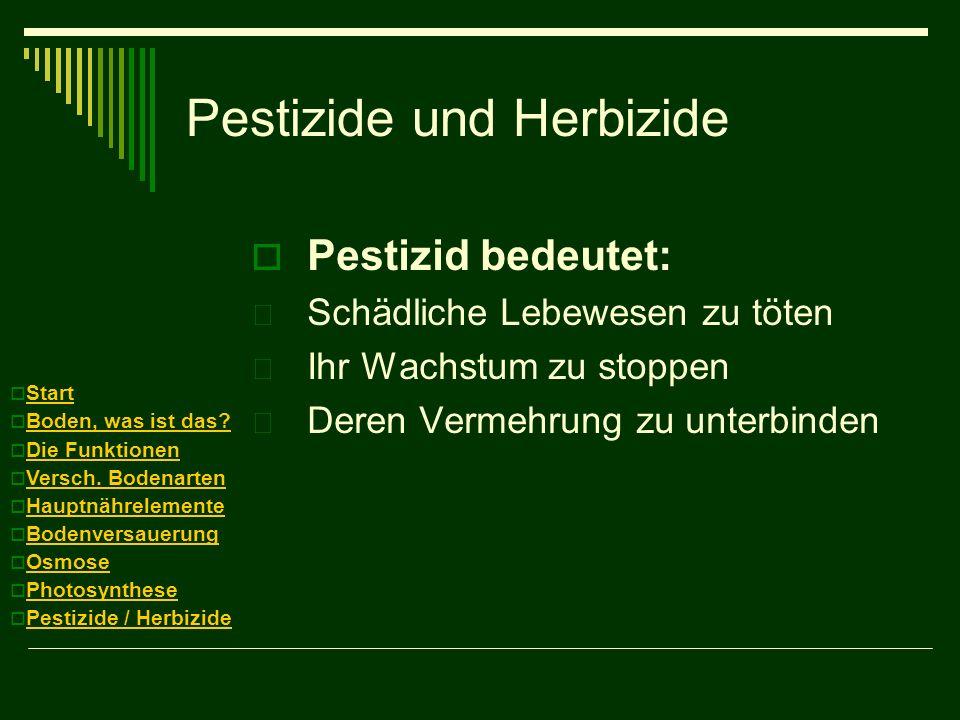 Pestizide und Herbizide