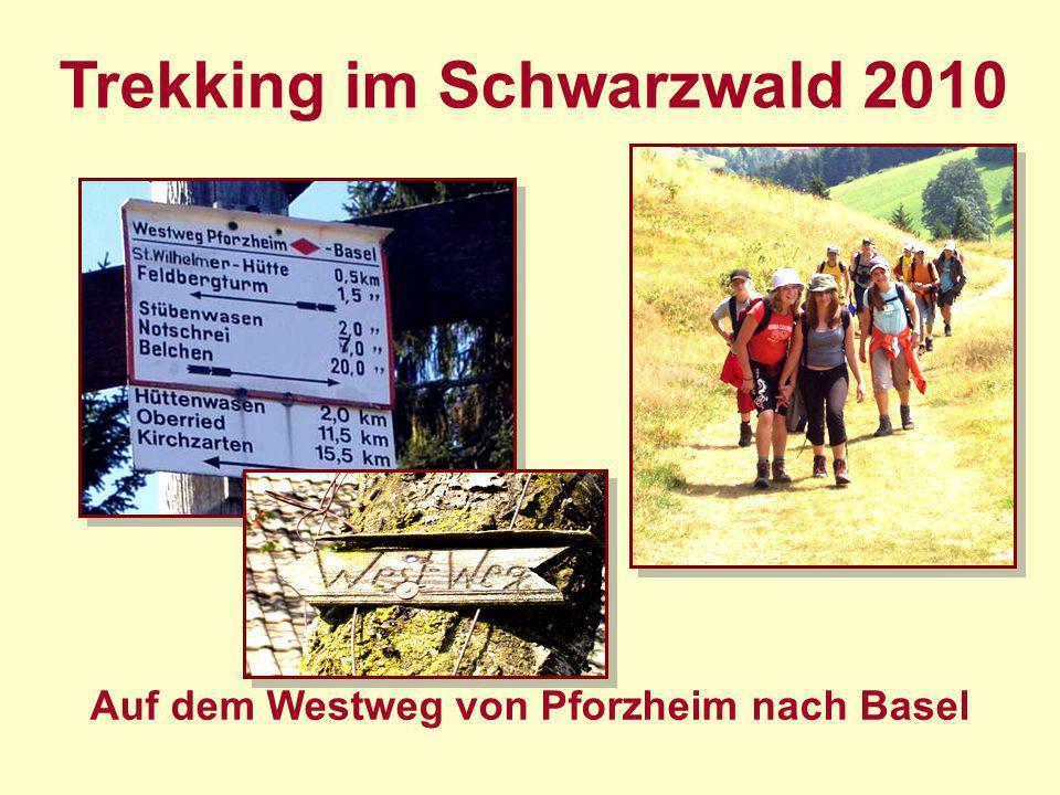 Trekking im Schwarzwald 2010