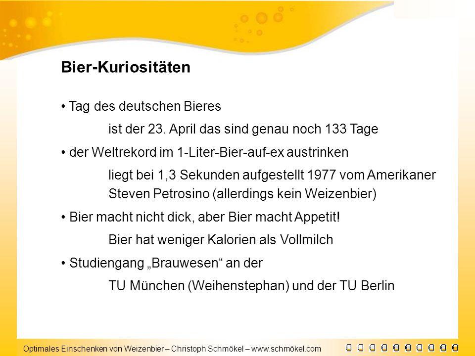 Bier-Kuriositäten • Tag des deutschen Bieres