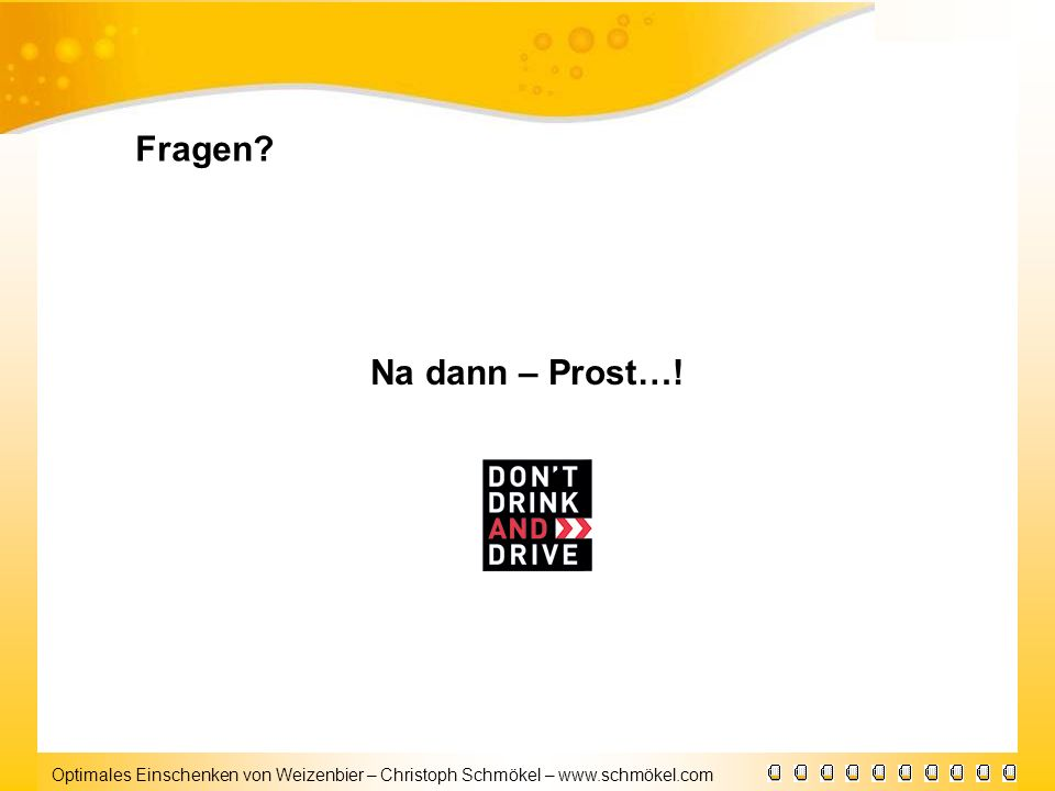 Fragen Na dann – Prost…!