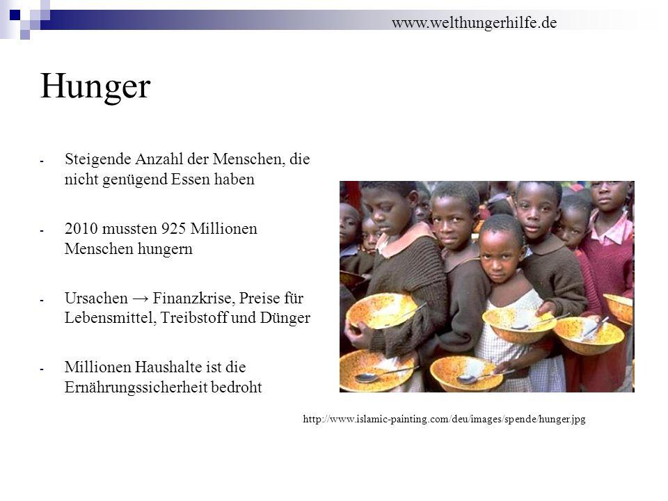 Hunger www.welthungerhilfe.de