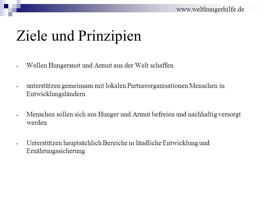 Ziele und Prinzipien www.welthungerhilfe.de