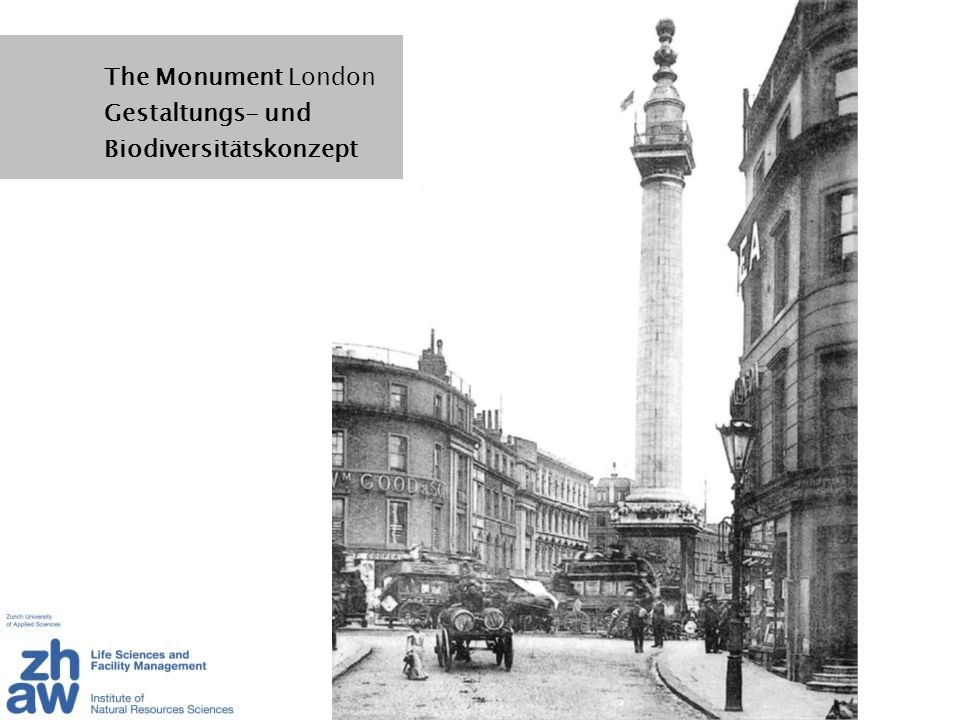 The Monument London Gestaltungs- und Biodiversitätskonzept