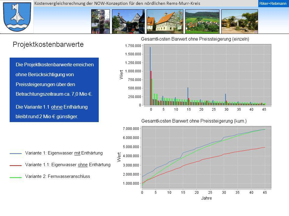Projektkostenbarwerte