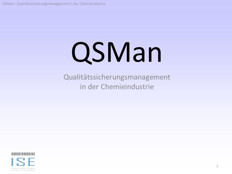 Qualitätssicherungsmanagement in der Chemieindustrie