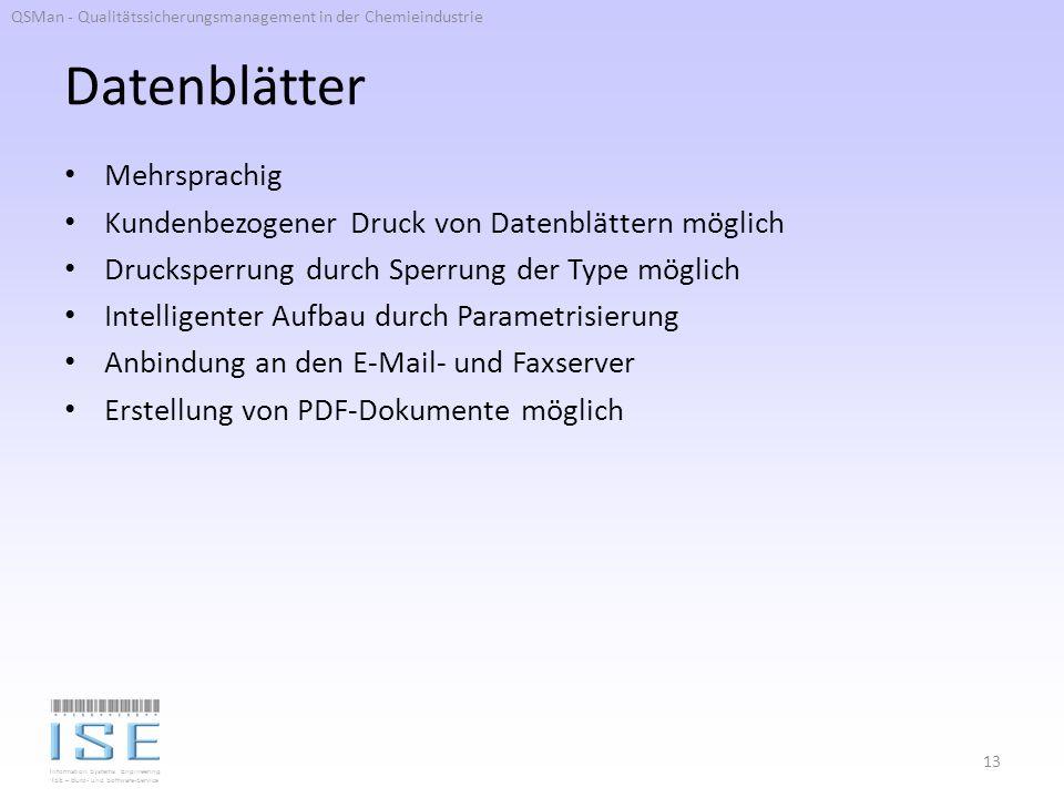 Datenblätter Mehrsprachig