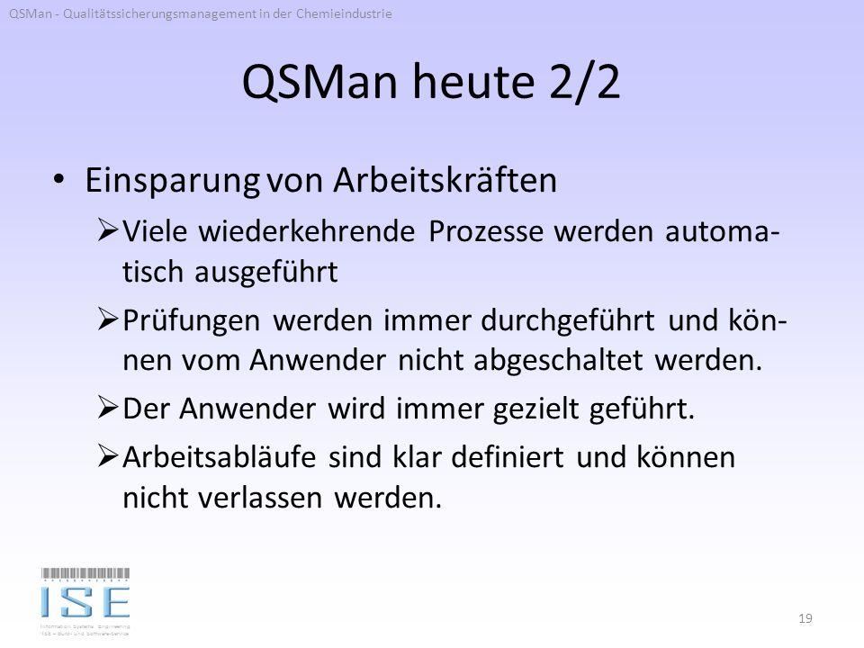 QSMan heute 2/2 Einsparung von Arbeitskräften