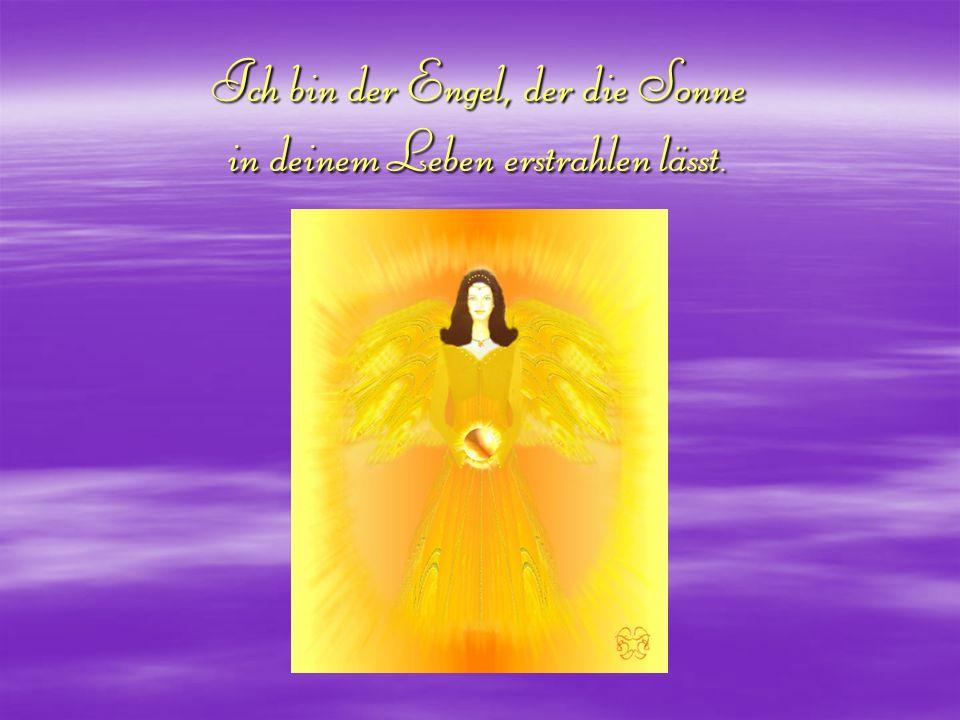 Ich bin der Engel, der die Sonne in deinem Leben erstrahlen lässt.
