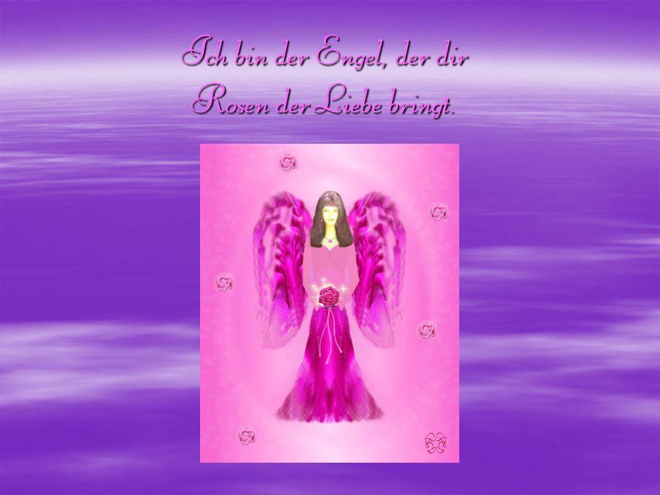 Ich bin der Engel, der dir Rosen der Liebe bringt.