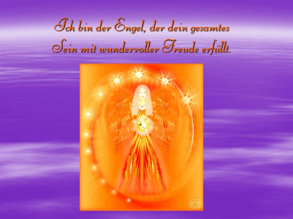 Ich bin der Engel, der dein gesamtes Sein mit wundervoller Freude erfüllt.