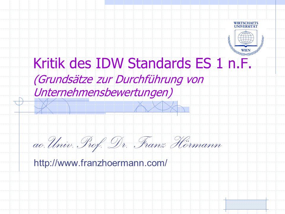 ao.Univ.Prof. Dr. Franz Hörmann http://www.franzhoermann.com/