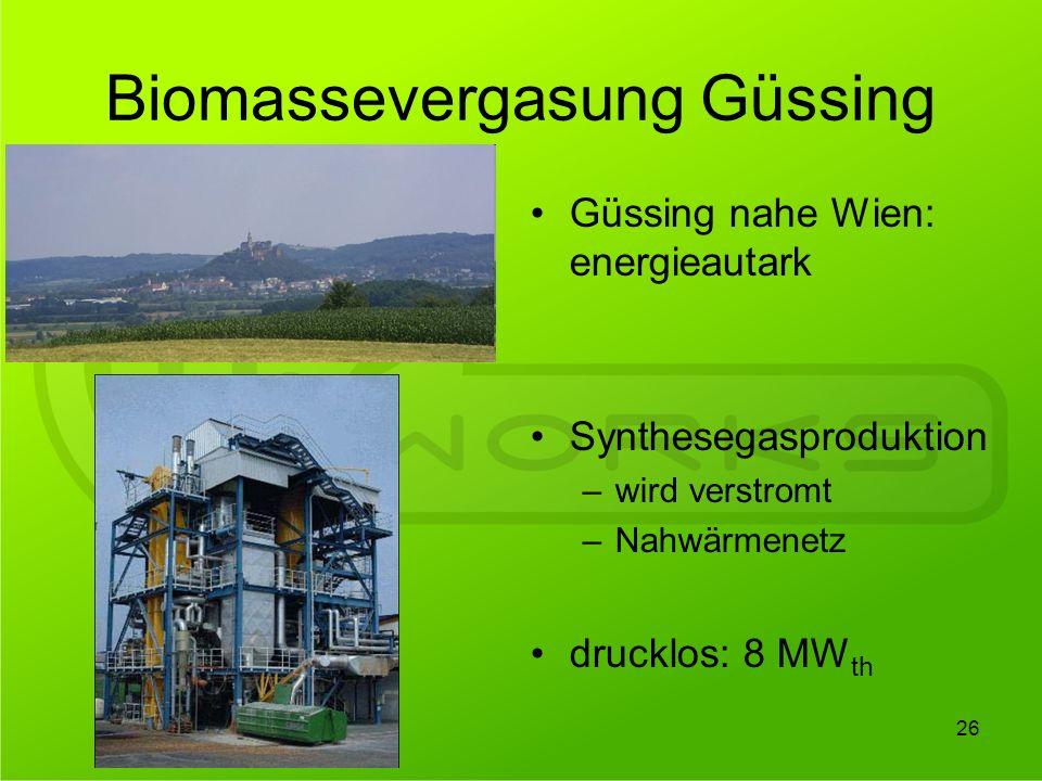 Biomassevergasung Güssing