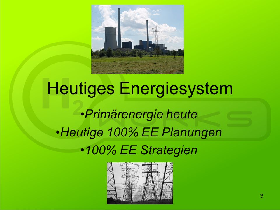 Heutiges Energiesystem