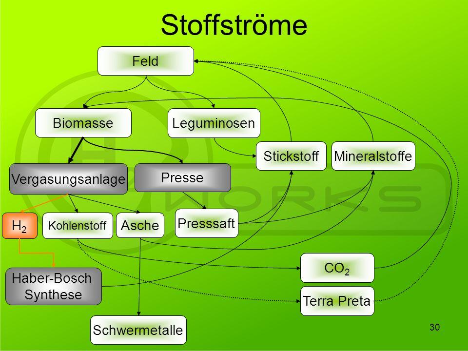 Stoffströme Feld Biomasse Leguminosen Stickstoff Mineralstoffe