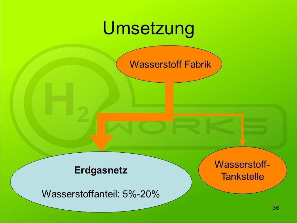 Wasserstoffanteil: 5%-20%