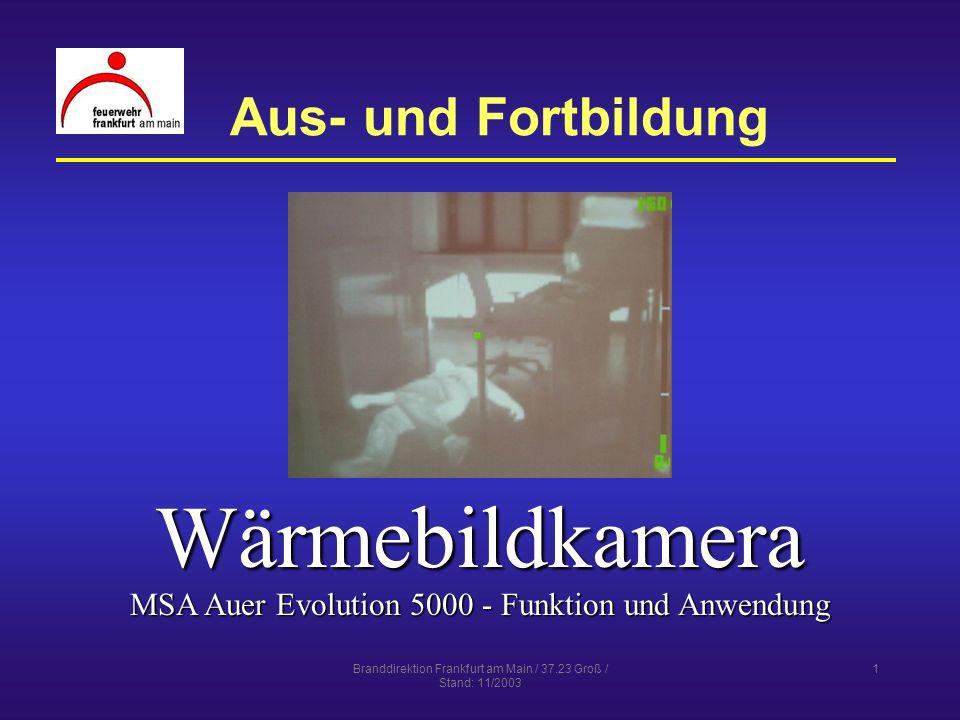 Wärmebildkamera Aus- und Fortbildung