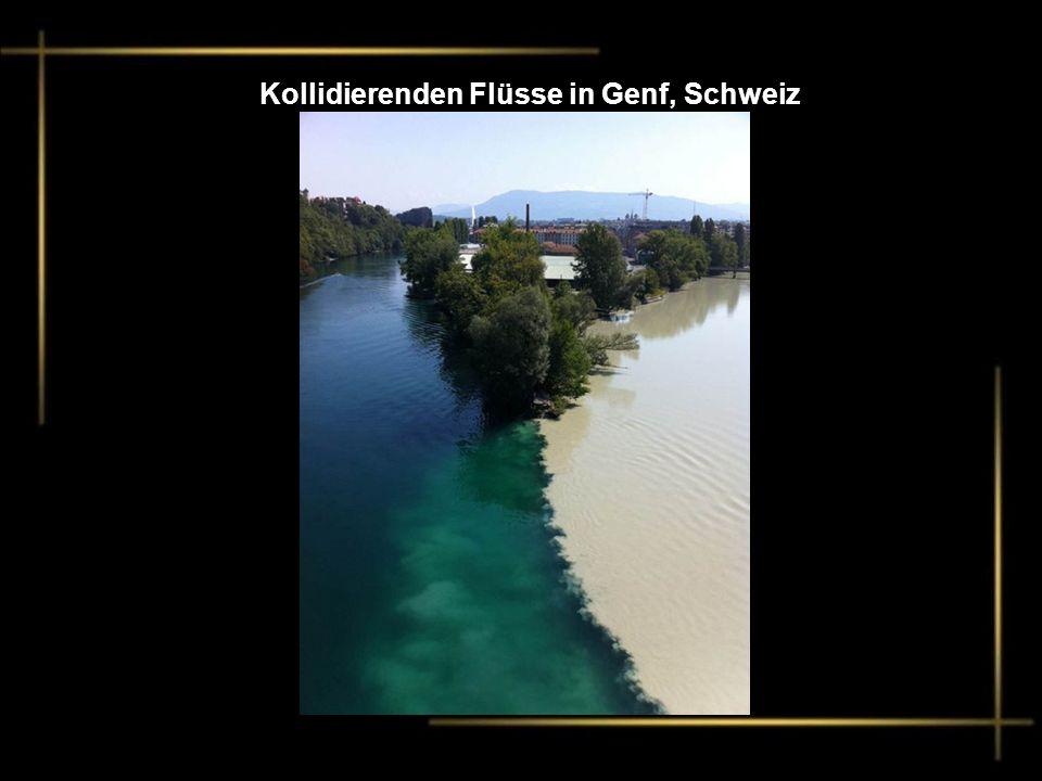 Kollidierenden Flüsse in Genf, Schweiz