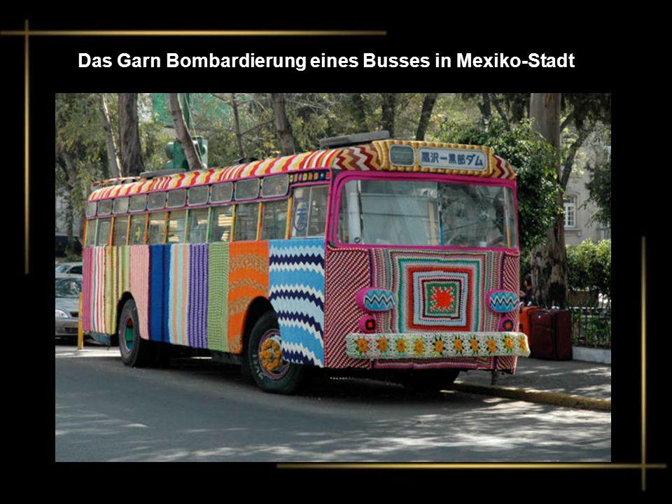 Das Garn Bombardierung eines Busses in Mexiko-Stadt