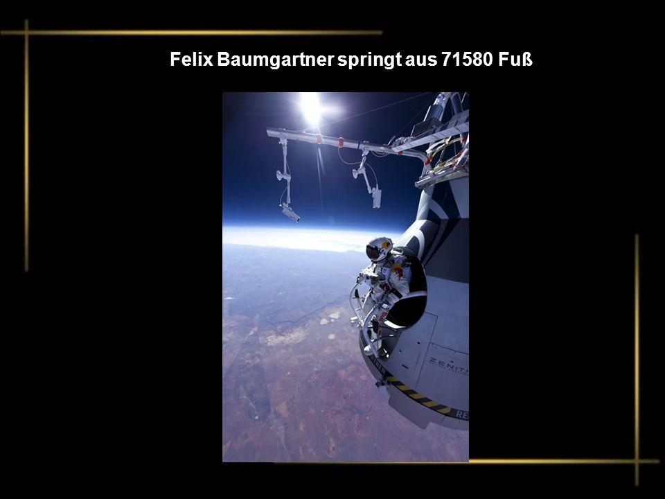Felix Baumgartner springt aus 71580 Fuß