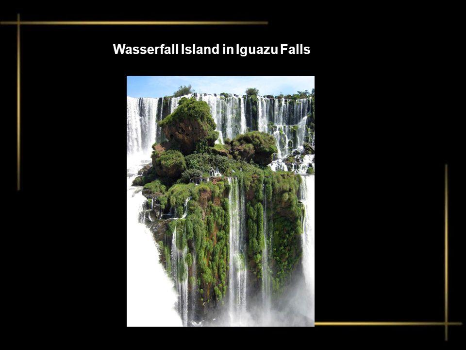 Wasserfall Island in Iguazu Falls