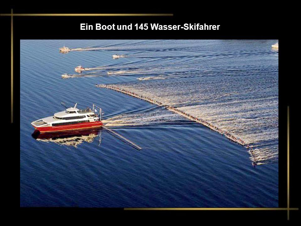 Ein Boot und 145 Wasser-Skifahrer