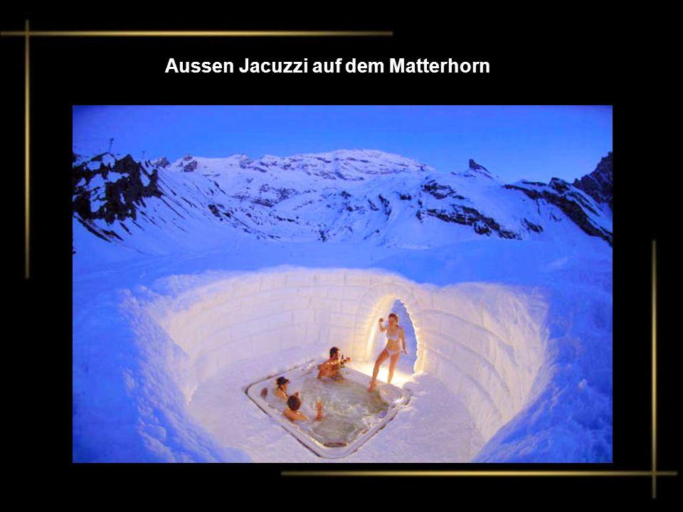 Aussen Jacuzzi auf dem Matterhorn