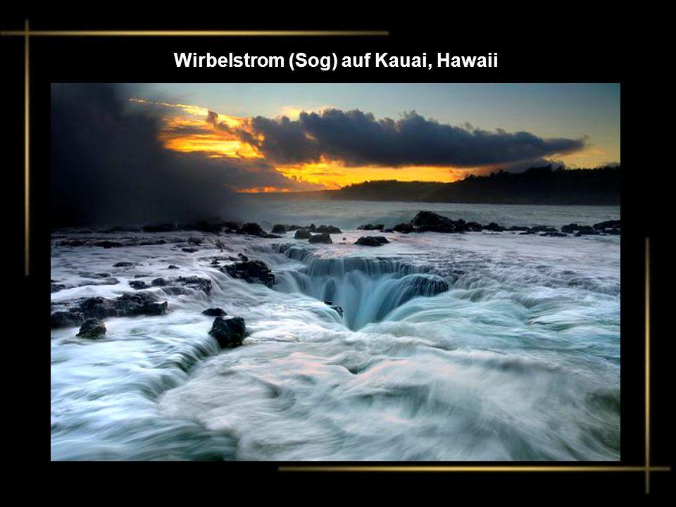 Wirbelstrom (Sog) auf Kauai, Hawaii