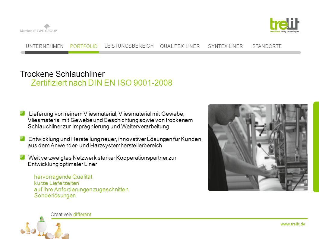 Trockene Schlauchliner Zertifiziert nach DIN EN ISO 9001-2008