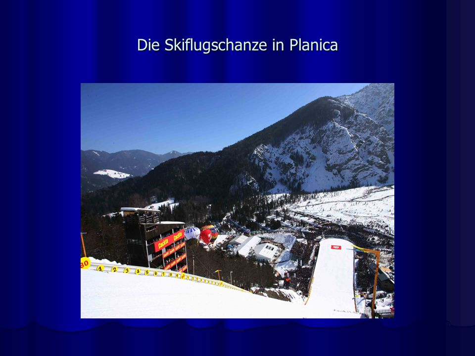 Die Skiflugschanze in Planica