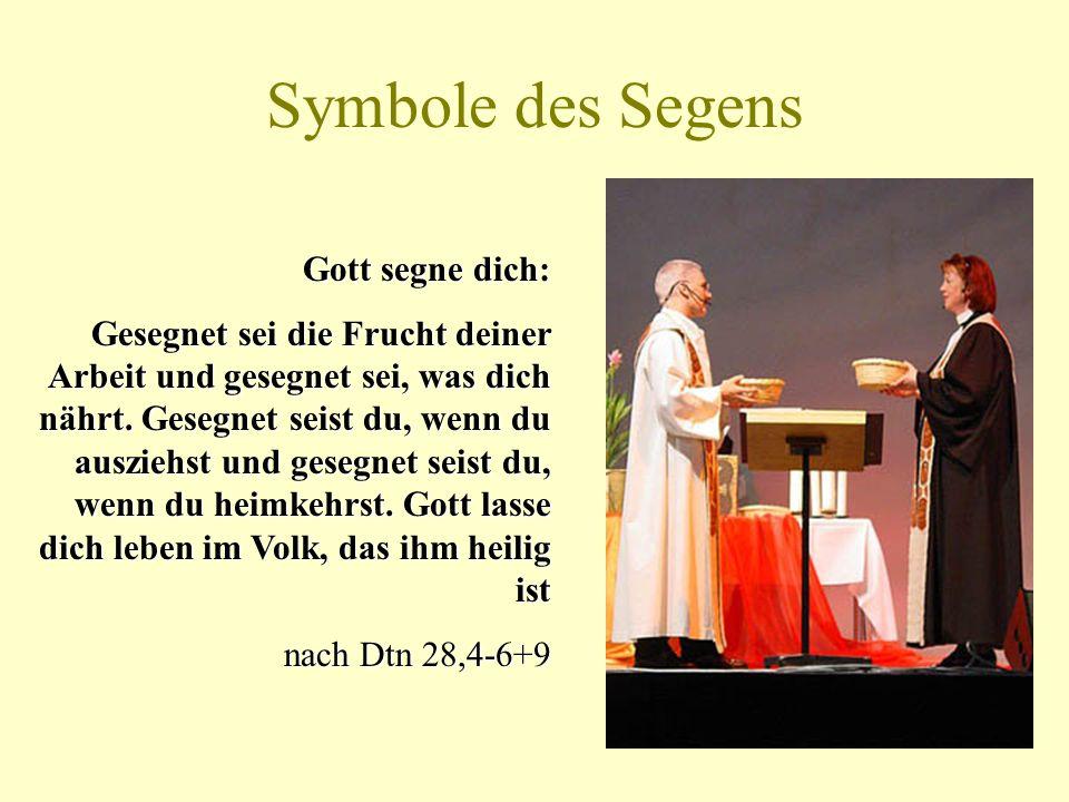 Symbole des Segens Gott segne dich: