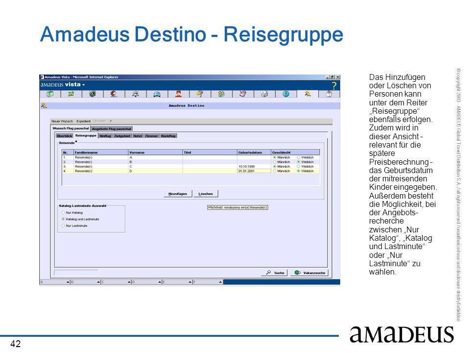 Amadeus Destino - Reisegruppe