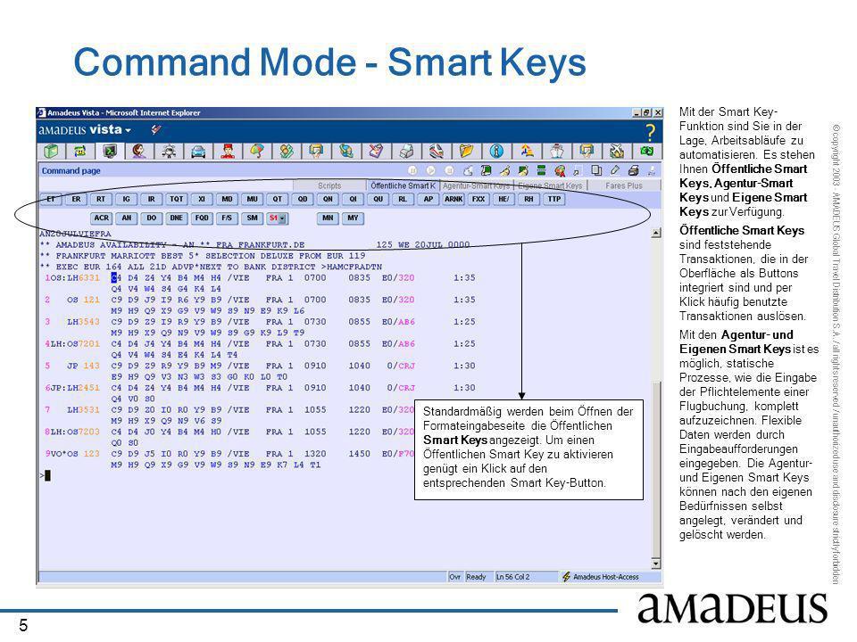 Command Mode - Smart Keys