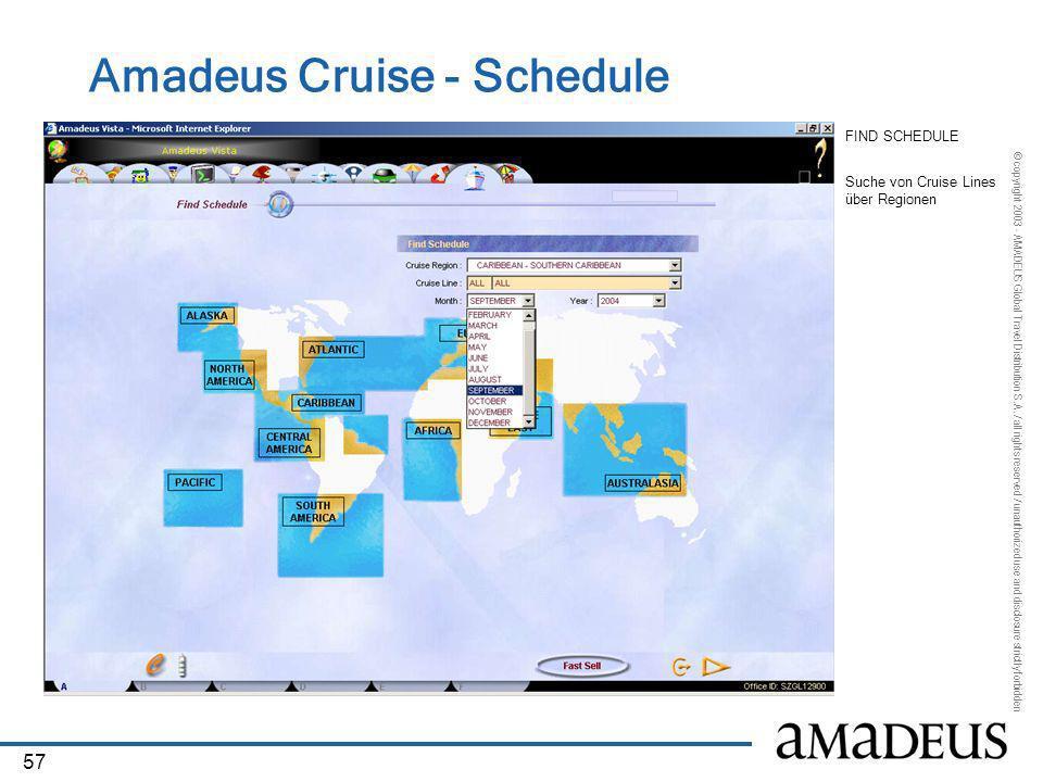 Amadeus Cruise - Schedule