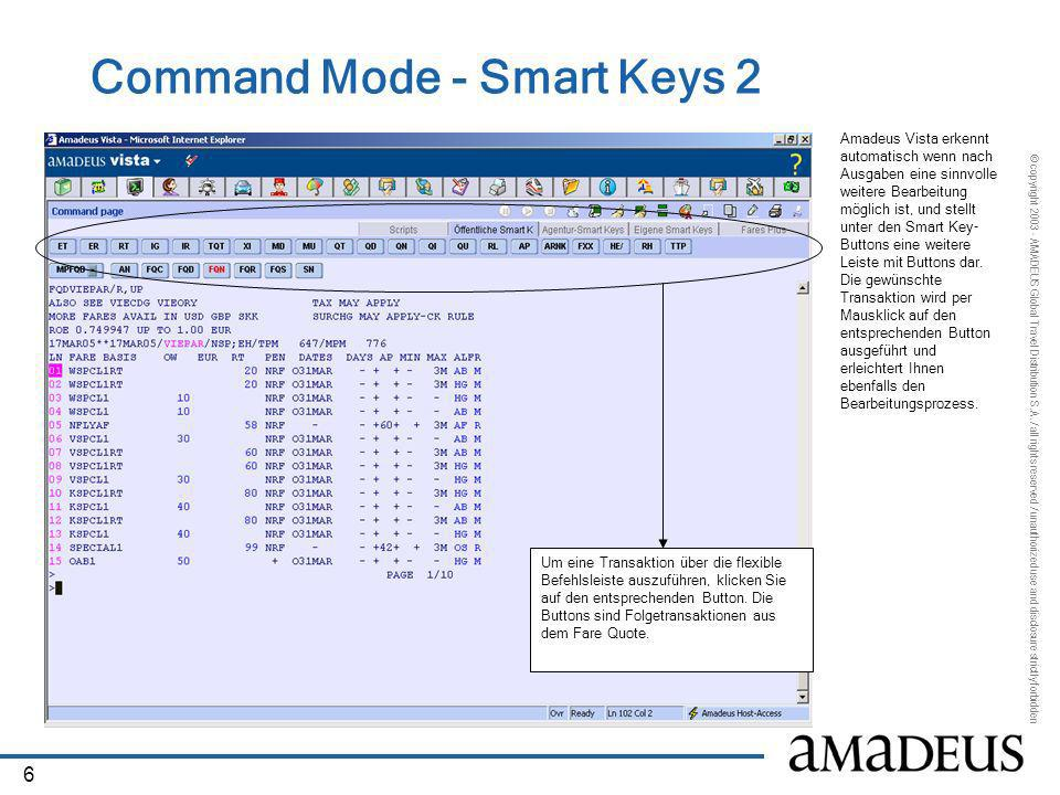 Command Mode - Smart Keys 2