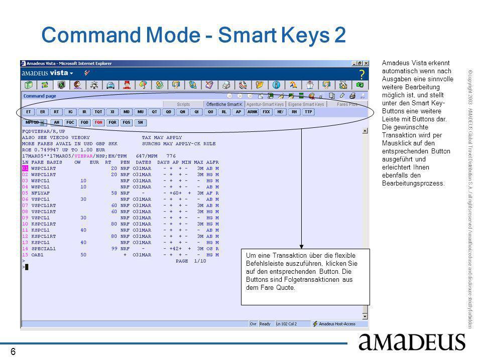 Command Mode - Smart Keys 2