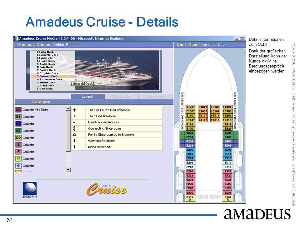 Amadeus Cruise - Details