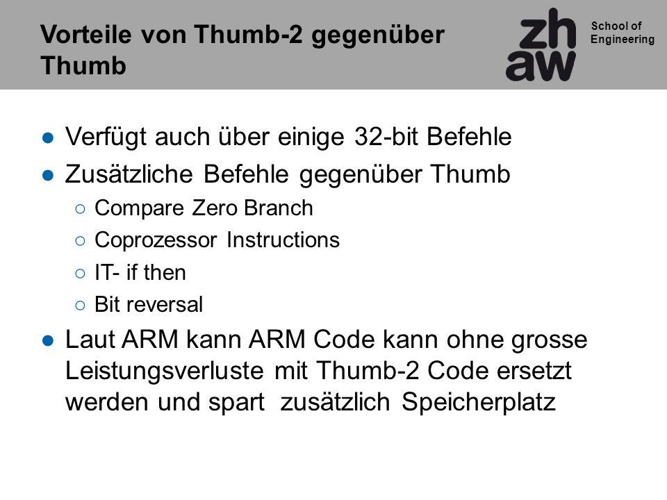 Vorteile von Thumb-2 gegenüber Thumb