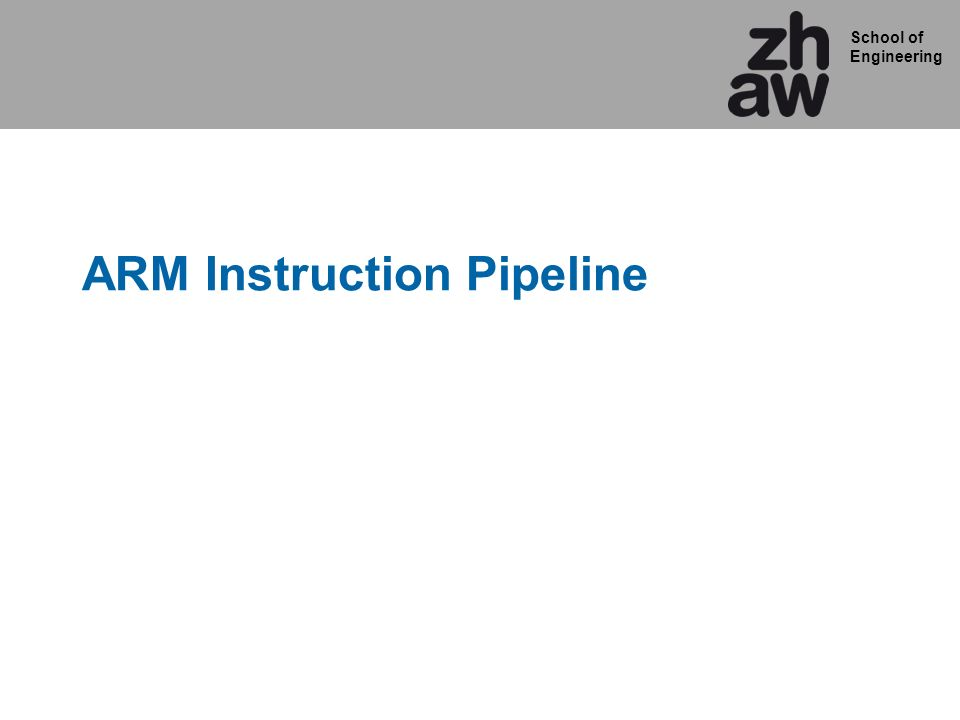ARM Instruction Pipeline