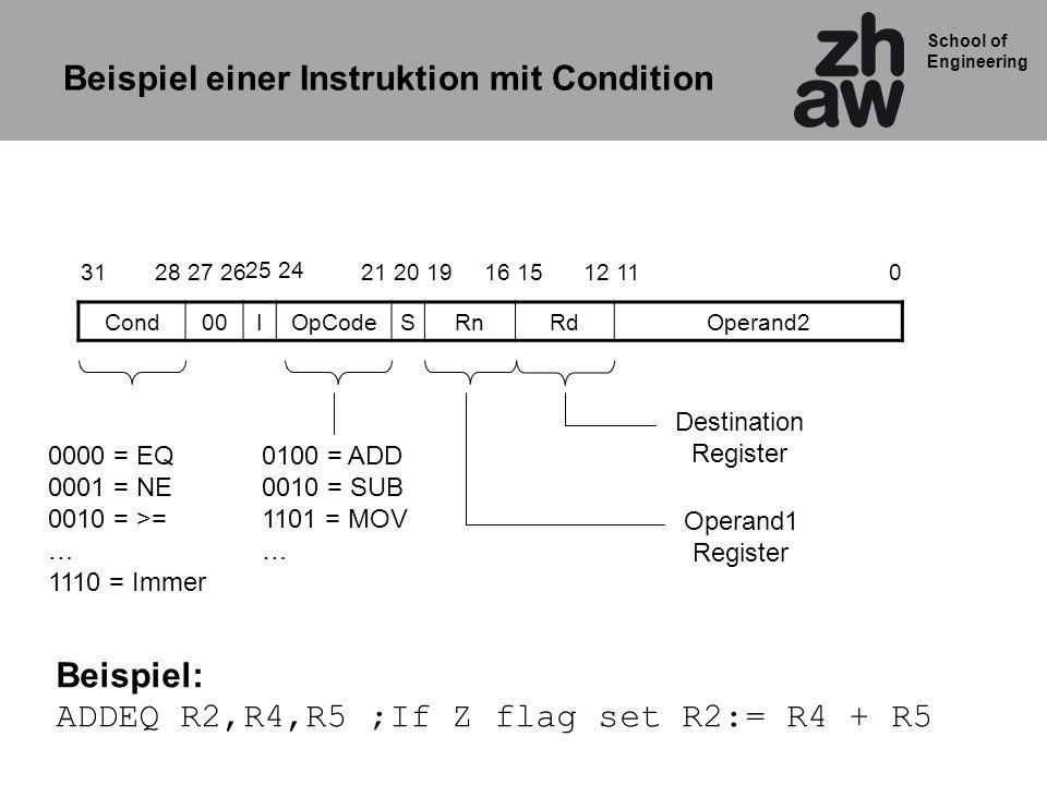 Beispiel einer Instruktion mit Condition