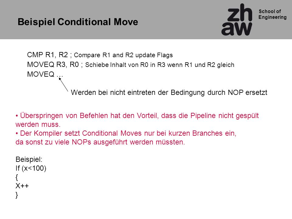 Beispiel Conditional Move