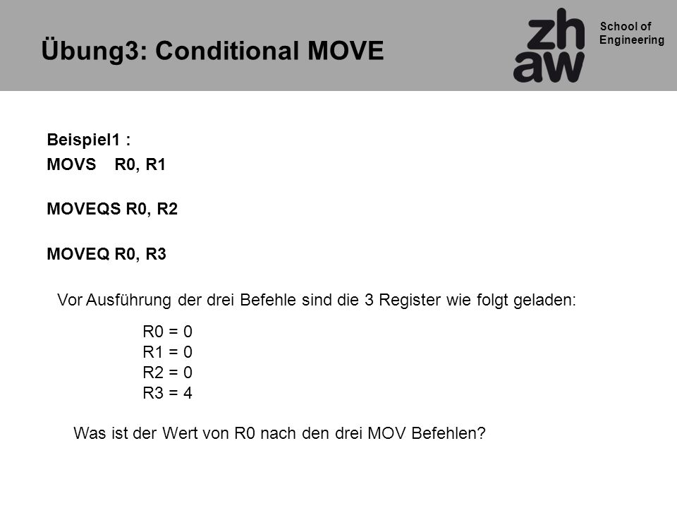 Übung3: Conditional MOVE